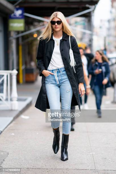 Devon Windsor is seen in SoHo on April 14 2019 in New York City