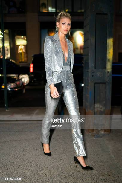 Devon Windsor is seen in the Meatpacking District on April 09 2019 in New York City
