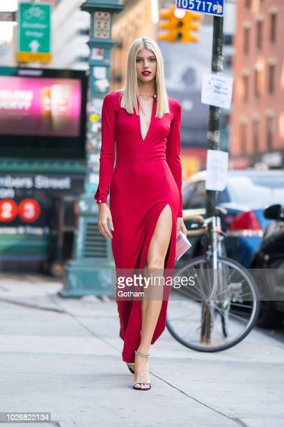 Devon Windsor is seen in Tribeca on September 4 2018 in New York City