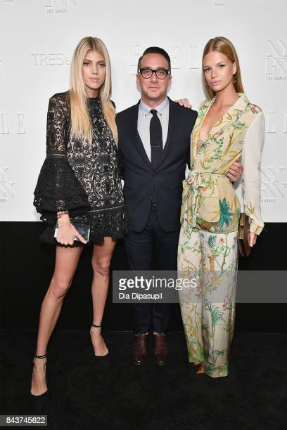 Devon Windsor President of E Entertainment Adam Stotsky and model Nadine Leopold attend the NYFW Kickoff Party A Celebration Of Personal Style hosted...