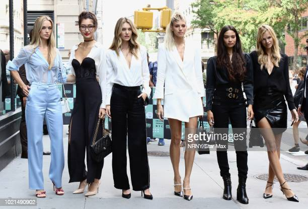 Devon Windsor Shanina Shaik Caroline Lowe Nadine Leopold Ping Hue and Hannah Ferguson are seen on August 22 2018 in New York City