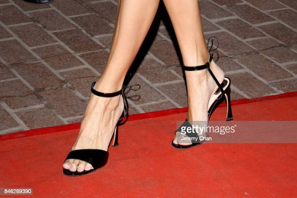 """Devon Windsor, shoe detail, attends the """"Brawl in Cell Block 99"""" premiere during the 2017 Toronto International Film Festival at Ryerson Theatre on..."""
