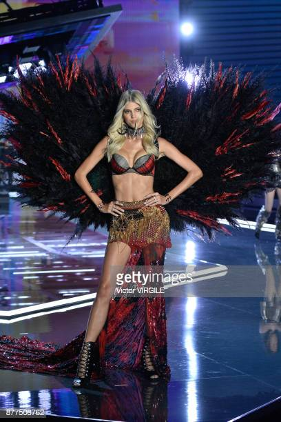Devon Windsor walks the runway at the 2017 Victoria's Secret Fashion Show In Shanghai Show at MercedesBenz Arena on November 20 2017 in Shanghai China