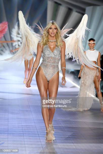 Devon Windsor walks the runway during the 2018 Victoria's Secret Fashion Show at Pier 94 on November 8 2018 in New York City