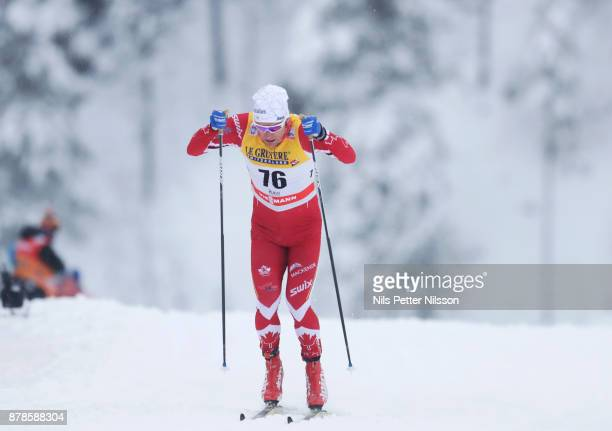 DevonKershaw of Canadaduring the cross country sprint qualification during the FIS World Cup Ruka Nordic season opening at Ruka Stadium on November...
