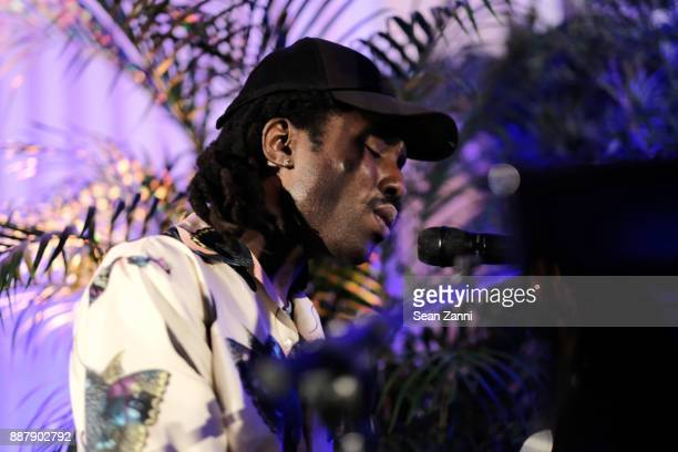 Devonté Hynes performs during Artsy Projects Miami VIP at The Bath Club on December 6 2017 in Miami Beach Florida