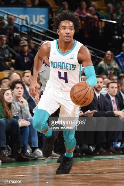 93a2860ee Devonte  Graham of the Charlotte Hornets handles the ball against the Boston  Celtics on December