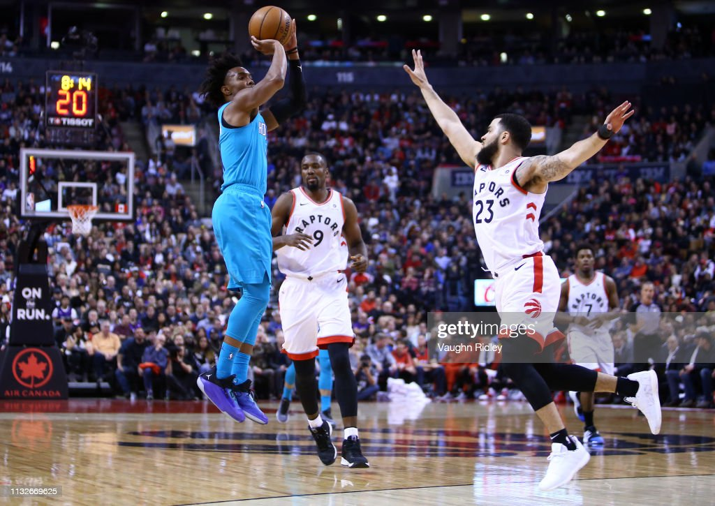 reputable site af436 94f58 Devonte Graham of the Charlotte Hornets shoots the ball as ...