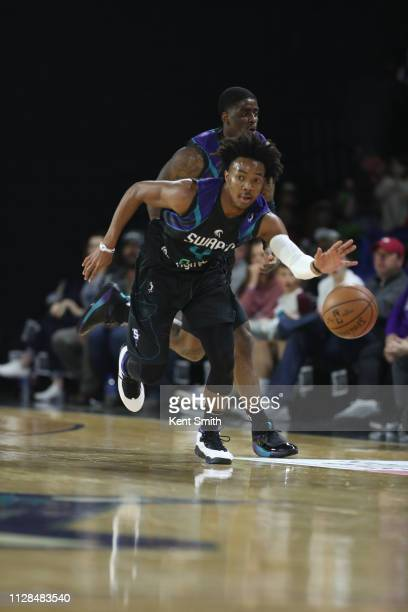 Devonte Graham of the Greensboro Swarm brings the ball up against the Long Island Nets in Greensboro North Carolina NOTE TO USER User expressly...