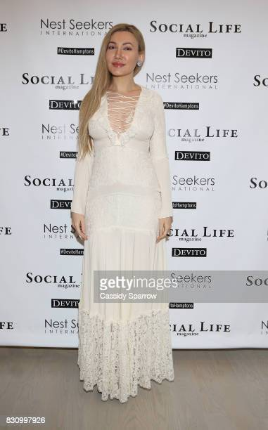 Devorah Rose attends the Social Life Magazine Nest Seekers August Issue Party on August 12 2017 in Southampton New York