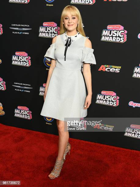 Devore Ledridge arrives at the 2018 Radio Disney Music Awards at Loews Hollywood Hotel on June 22 2018 in Hollywood California