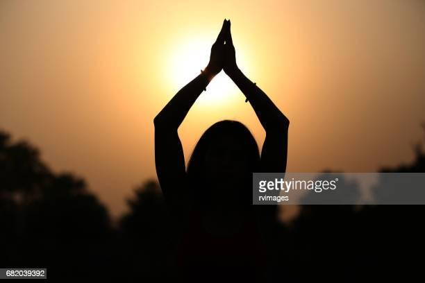 Devotee in meditation