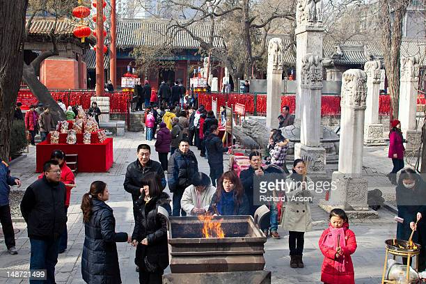 Devotees at Dongyue Temple Fair during Chinese New Year celebrations.