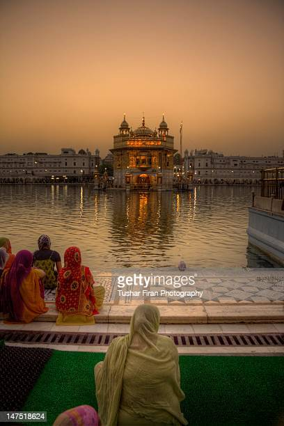 Devotees at golden temple