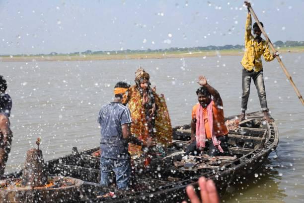 IND: Devotees Immerse Durga Idols In Ganga River