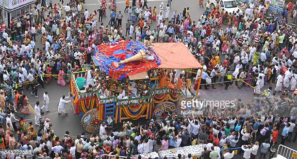 Devotees celebrates ISKON 45th Ratha Yatra festival in KolkataIndia According to mythology the Ratha Yatra dates back some 5000 years when Hindu god...