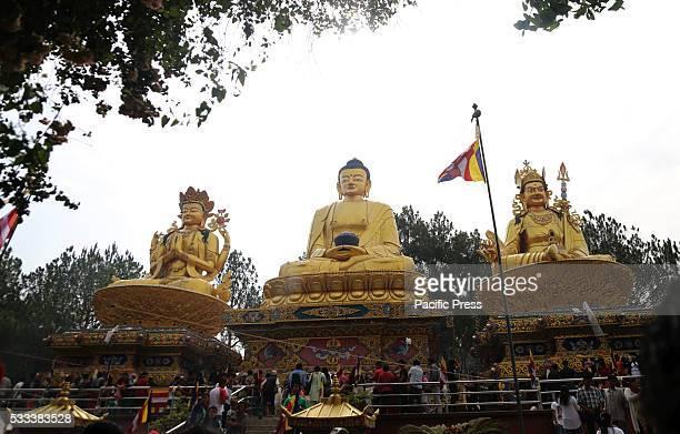 SWAYAMBHUNATH KATHMANDU NEPAL Devotees gather to offer prayers on occasion of Buddha Jayanti at Swayambhunath Devotees celebrate the 2560th Buddha...