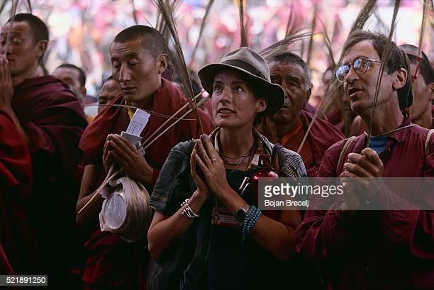 Devotees of Buddhist Kalachakra Ritual