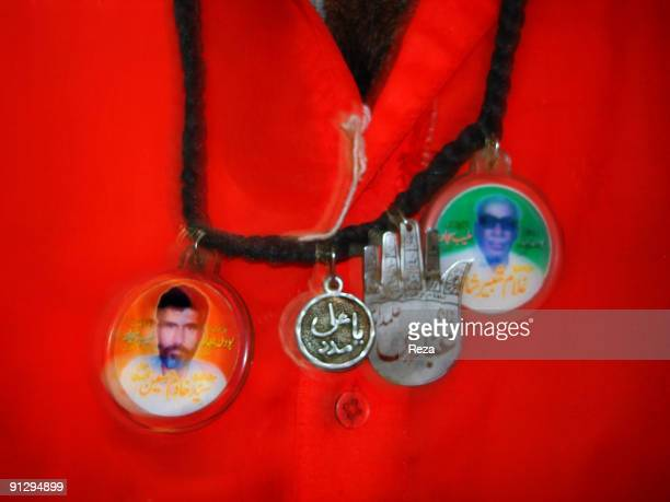 Devotees of different sect of religion choose different clothing September 2006 in Sehwan Sharif Pakistan Some dervishes known as malangs and...
