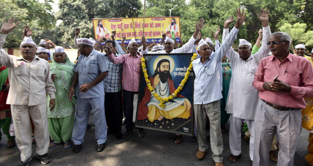 IND: Devotees Protest To Demand The Reconstruction Of Guru Ravidas Temple At Tughlakabad
