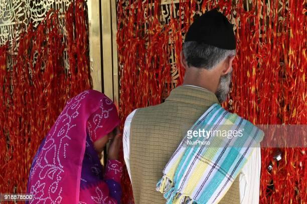 Devotees offer prayers at Ajmer Sharif the shrine of Sufi saint Khwaja Moinuddin Chishti in Ajmer India on 15 February 2018
