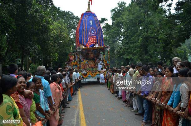 Devotees participate Ulto Rath in Kolkata West Bengal Chief Minister Mamata Banerjee with ample of devotees take part on pulling the chariot of lord...