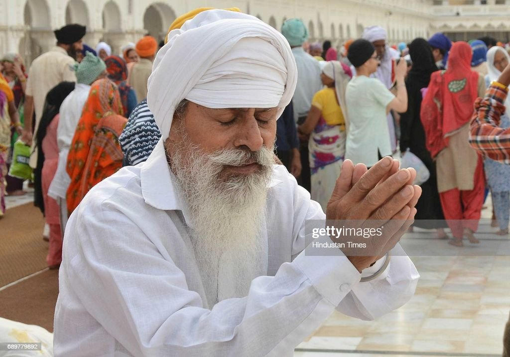 Devotees paying obeisance at Golden Temple on the occasion of martyrdom of Guru Arjan Dev ji in Golden Temple on May 29 2017 in Amritsar India