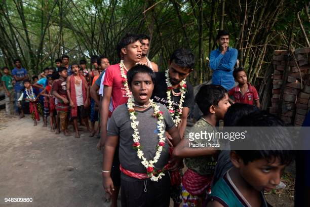 Devotees stand in queue to perform rituals during the Charak Puja festivalBengali observes Charak Puja on the last day of Bengali calendar popularly...