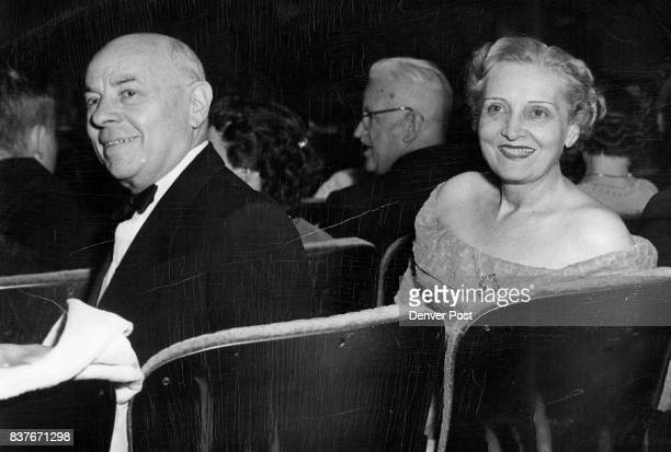 DEVOTEESWaiting for the opening curtain at one of the recent performances of 'Dear Barbarians' at Civic theater were Mr and Mrs Henry Everett Sachs...