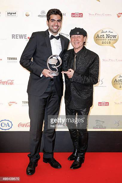 Devrim Emre and Klaus Meine attend the 1st Act Now Jugend Award at FriedrichstadtPalast on November 2 2015 in Berlin Germany