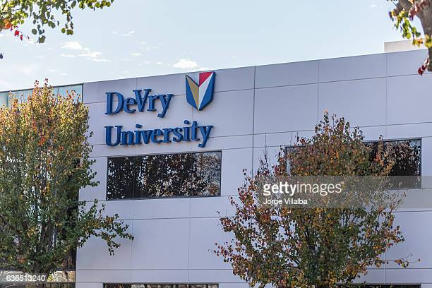DeVry University sign on its building during settlement