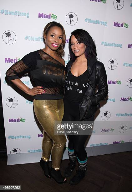 Devyn Simone and Aneesa Ferreira attend #Diemstrong at No 8 on November 12 2015 in New York City