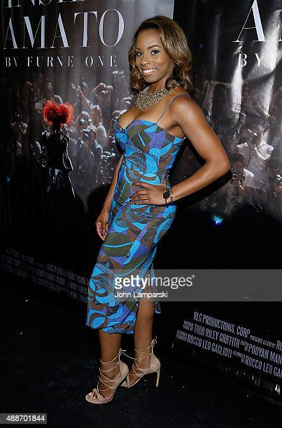 Devyn Simone attends 'Inside Amato' New York premiere at Liberty Theater on September 16 2015 in New York City