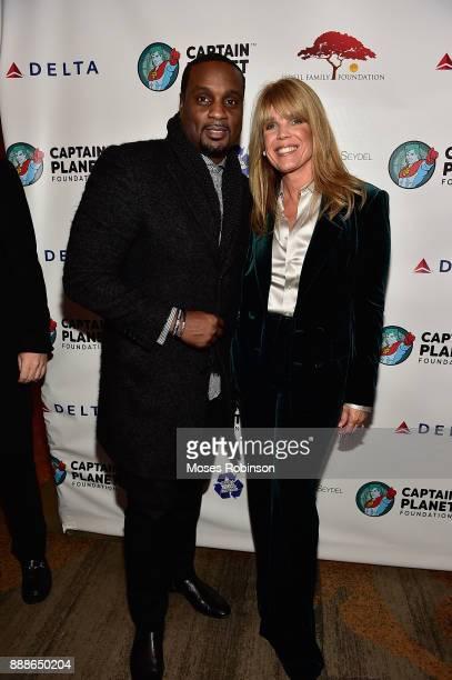 DeVyne Stephens and Laura Turner Seydel attend the 2017 Captain Planet Foundation Gala at InterContinental Hotel Buckhead Atlanta on December 8 2017...
