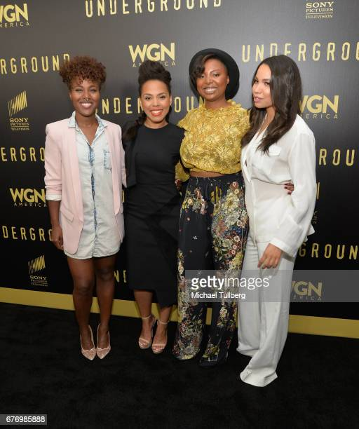 Dewanda Wise Amirah Vann Misha Green and Jurnee SmollettBell attend a For Your Consideration event for WGN America's Underground at The Landmark on...