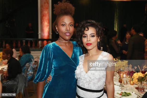 DeWanda Wise and Amirah Vann attend the 2018 Essence Black Women In Hollywood Oscars Luncheon at Regent Beverly Wilshire Hotel on March 1 2018 in...