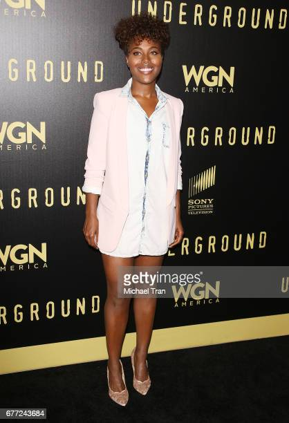 """DeWanda Wise arrives at WGN America's """"Underground"""" FYC event held at The Landmark on May 2, 2017 in Los Angeles, California."""