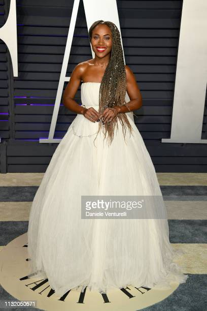DeWanda Wise attends 2019 Vanity Fair Oscar Party Hosted By Radhika Jones Arrivals at Wallis Annenberg Center for the Performing Arts on February 24...