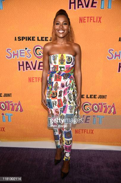 DeWanda Wise attends the She's Gotta Have It Season 2 Premiere at Alamo Drafthouse on May 23 2019 in Brooklyn New York