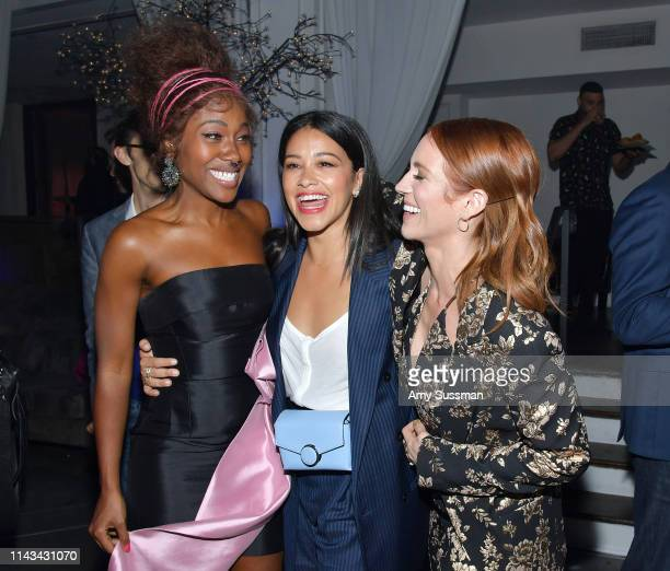 DeWanda Wise Gina Rodriguez and Brittany Snow attend the after party for the special screening of Netflix's Someone Great at ArcLight Hollywood on...