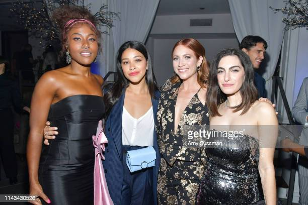 DeWanda Wise Gina Rodriguez Brittany Snow and Jennifer Kaytin Robinson attend the after party for the special screening of Netflix's Someone Great at...