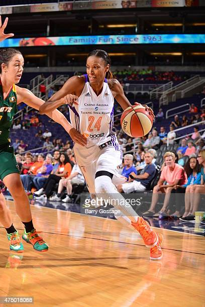 DeWanna Bonner of the Phoenix Mercury drives against the Seattle Storm on May 28 2015 at Talking Stick Resort Arena in Phoenix Arizona NOTE TO USER...