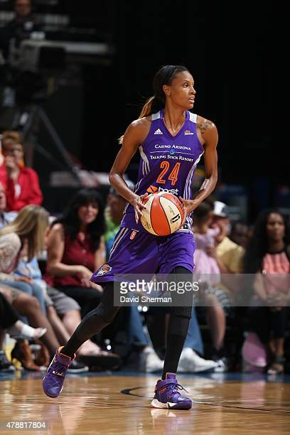 DeWanna Bonner of the Phoenix Mercury handles the ball against the Minnesota Lynx at the Target Center on June 27 2015 in Minneapolis MN NOTE TO USER...