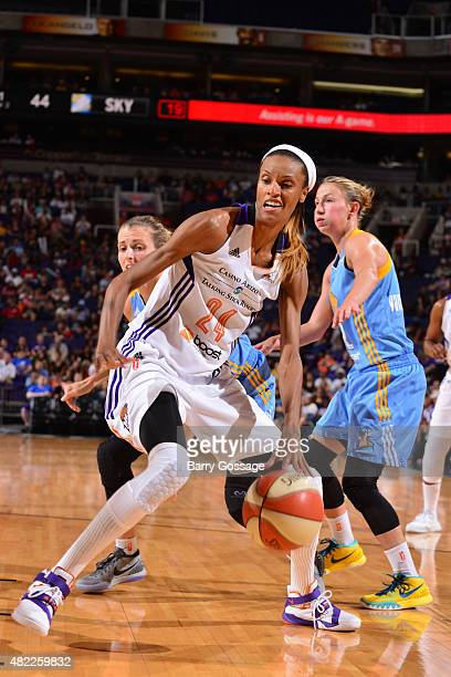 DeWanna Bonner of the Phoenix Mercury handles the ball against the Chicago Sky on July 27 2015 at Talking Stick Resort Arena in Phoenix Arizona NOTE...