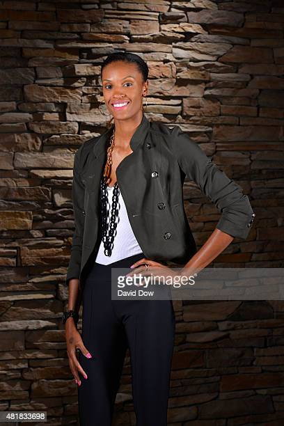 DeWanna Bonner of the Western Conference AllStars poses for a portrait before the WNBA AllStar Welcome Reception at the Mohegan Center Hotel on July...