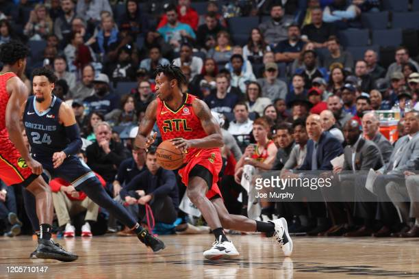 Dewayne Dedmon of the Atlanta Hawks handles the ball against the Memphis Grizzlies on March 7 2020 at FedExForum in Memphis Tennessee NOTE TO USER...