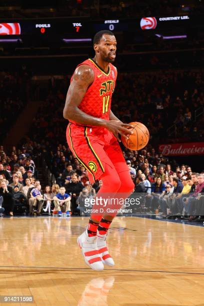 Dewayne Dedmon of the Atlanta Hawks handles the ball during the game against the New York Knicks on February 4 2018 in New York City NY NOTE TO USER...