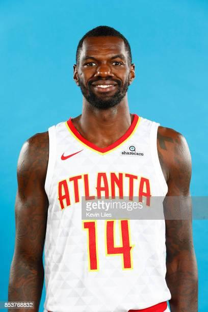 Dewayne Dedmon of the Atlanta Hawks poses for a head shot during Media Day on September 25 2017 at Four Season Hotel in Atlanta Georgia NOTE TO USER...