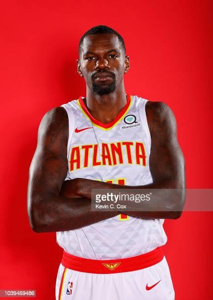 Dewayne Dedmon of the Atlanta Hawks poses for portraits during media day at Emory Sports Medicine Complex on September 24 2018 in Atlanta Georgia