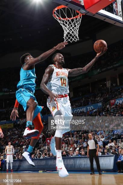 Dewayne Dedmon of the Atlanta Hawks shoots the ball against the Oklahoma City Thunder on November 30 2018 at Chesapeake Energy Arena in Oklahoma City...